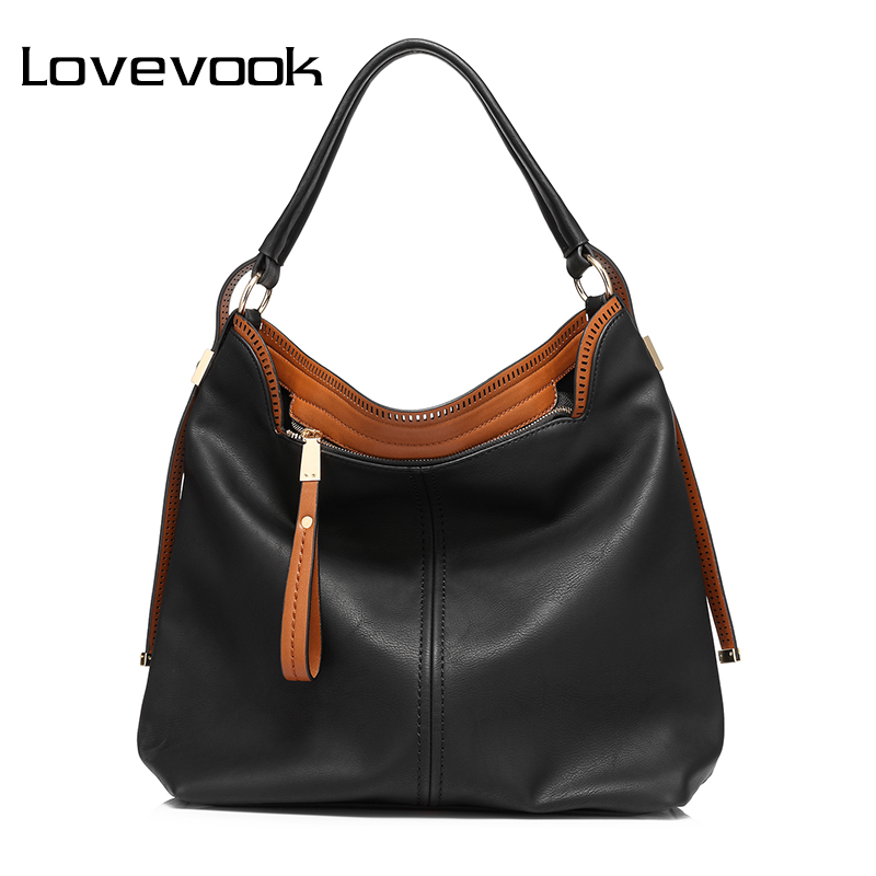 LOVEVOOK brand large capacity shoulder bags for women handbag female high quality artificial leather tote bag fashion 2017 women shoulder bags genuine leather tote bag female luxury fashion handbag high quality large capacity bolsa feminina 2017 new