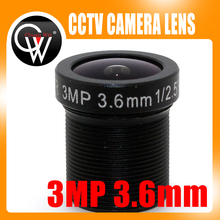 5pcs/lot 3.6mm lens HD 3MP Lens CCTV Board Lens For CCTV HD Security ip Camera Free Shipping