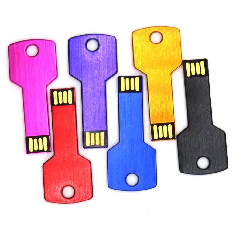Mini USB แฟลชไดรฟ์ 8GB 16GB 32GB Memory Stick USB2.0 แฟลชไดรฟ์ 64GB ที่จัดเก็บข้อมูลภายนอกโลหะ pendrive กับโลโก้ที่กำหนดเอง
