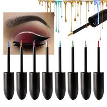 Color Flash Eyeliner Sequins Flashing Liquid Eyeshadow Neon Delineador RQS-32