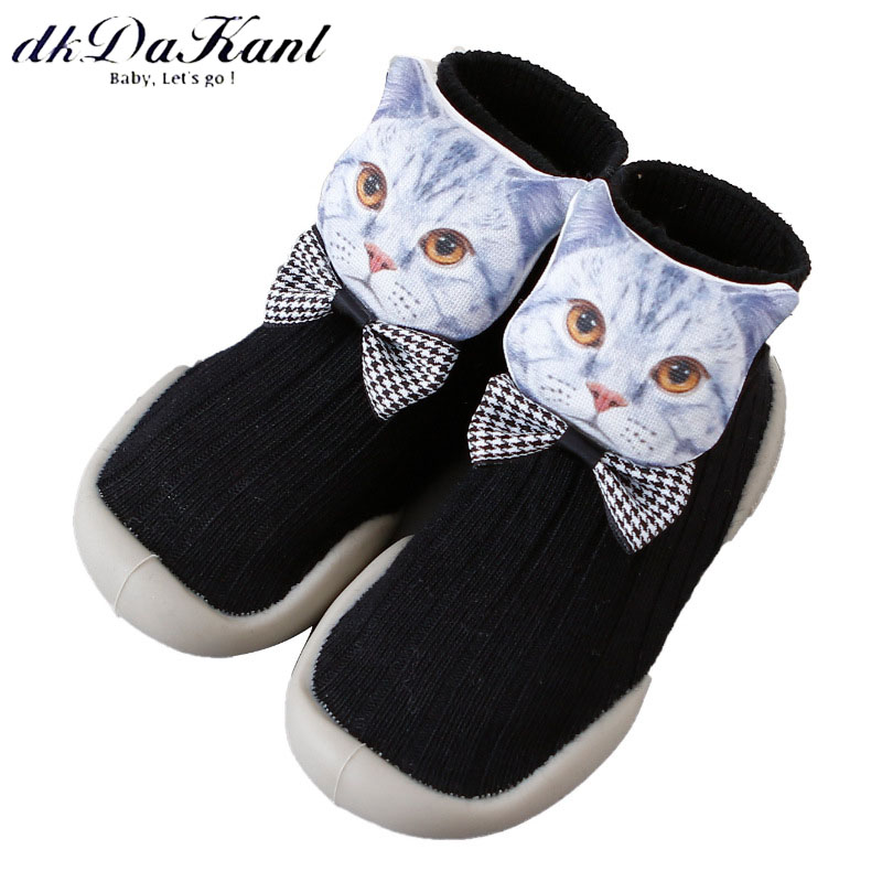 dkDaKanl 2019 New Spring 3D Korean Version Socks Baby Terry Toddler Shoes With Rubber Sole Inside Floor Sock 7-36 Months
