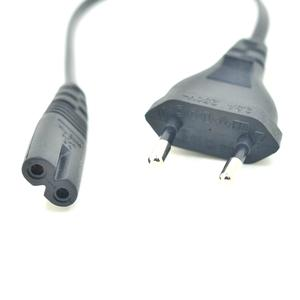 Power-Cable IEC320 Eu-2pin-Plug 20cm Cord Short Digital-Products VDE To C7 European