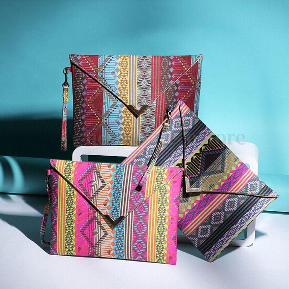 Womens Designer Envelope Clutch Chain Purse Tote Shoulder Leather Handbag Bag