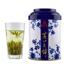2016 Nova Fresco Anhui Chá Verde 50g/can Chá Queshe Buxus prémio Huangshan Mao Feng Chá Healthe Poduct 1875 Caixa de Presente(China (Mainland))