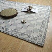 Janpanese Style Natural Cotton Linen Surface 185 185cm Carpet For Summer Cool Tatami Mat Cotton Environmental