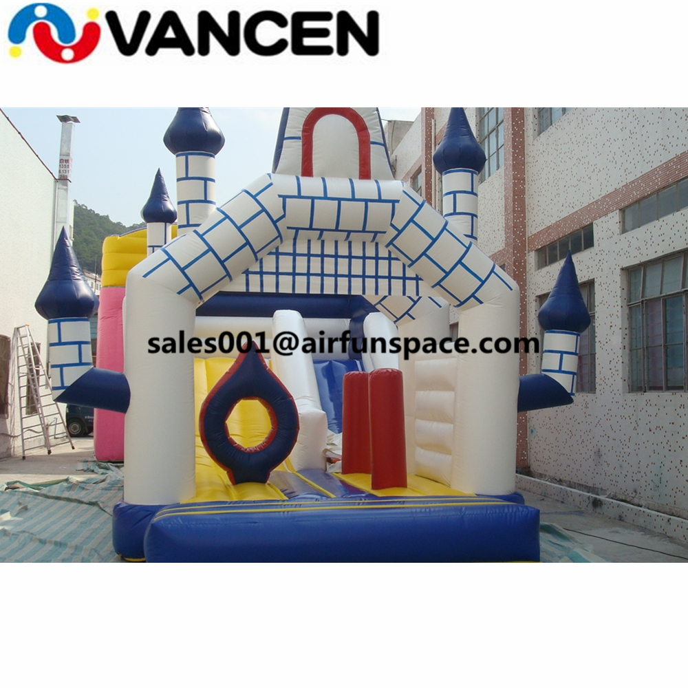 цена на Simple design commercial inflatable bouncy castle blue kids size inflatable jumping castle for sale