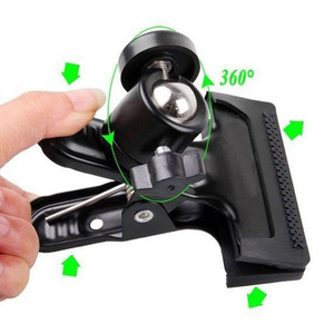 Image 5 - Clip Clamp Holder Mount with Universal Metal Standard Ball Head 1/4 Screw for Camera Flash Holder Bracket for Photography