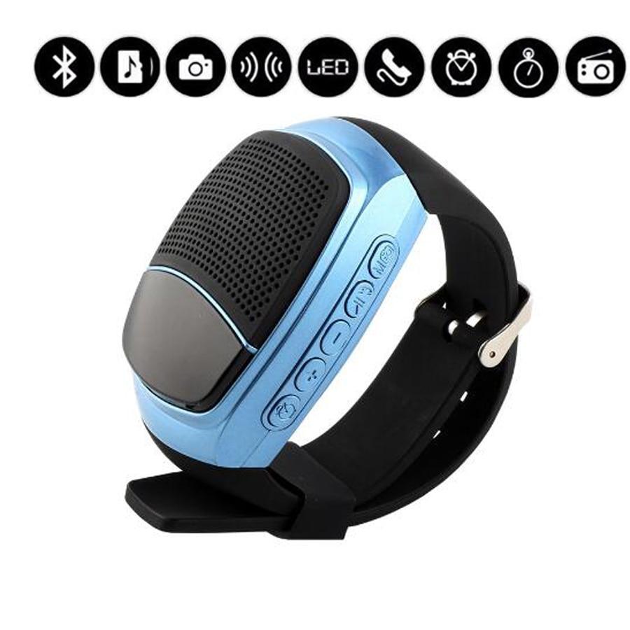 Новый b90 беспроводной bluetooth mp3 спикер часы спорт smart watch handsfree tf fm-радио дисплей hands-free call alarm time дисплей