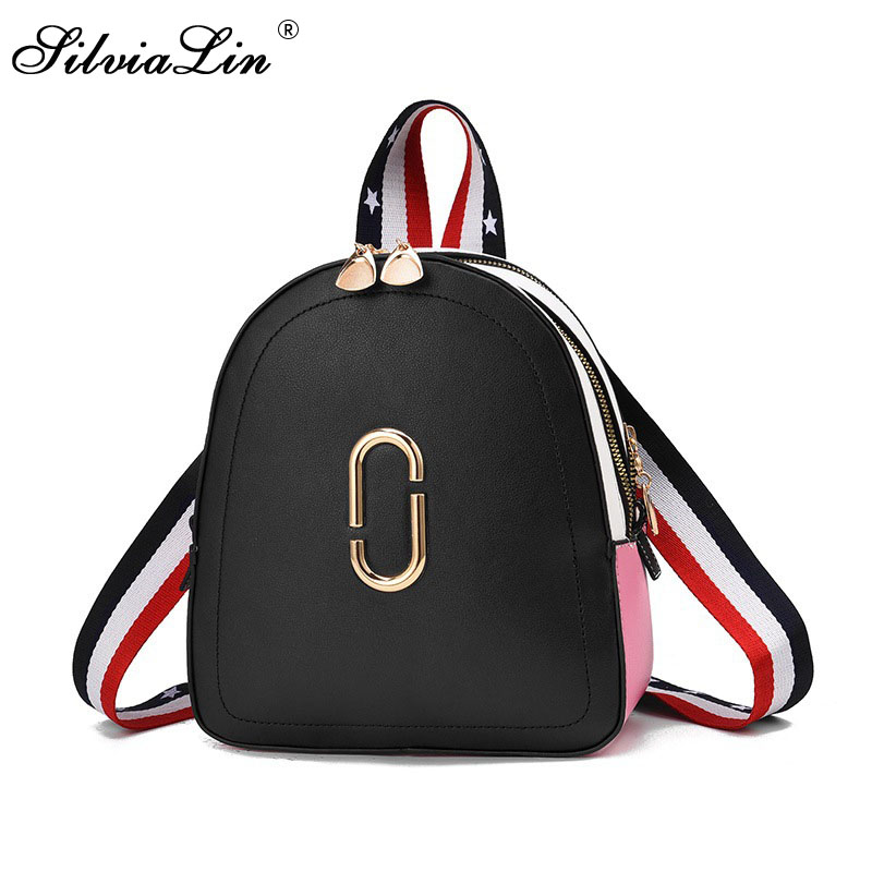 SilviaLin Women Backpack Purse Mochila Feminina White Casual School Bags For Teenage Girls Travel Backpacks Female Bagpack