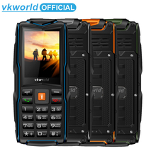 VKworld Yeni Taş V3 Cep Telefonu Su Geçirmez IP68 2.4 inç FM Radyo 3 SIM Kart LED el feneri GSM rusça klavye Cep telefonları