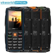VKworld חדש אבן V3 נייד טלפון עמיד למים IP68 2.4 אינץ FM רדיו 3 SIM כרטיס Led פנס GSM רוסית מקלדת טלפונים סלולרי