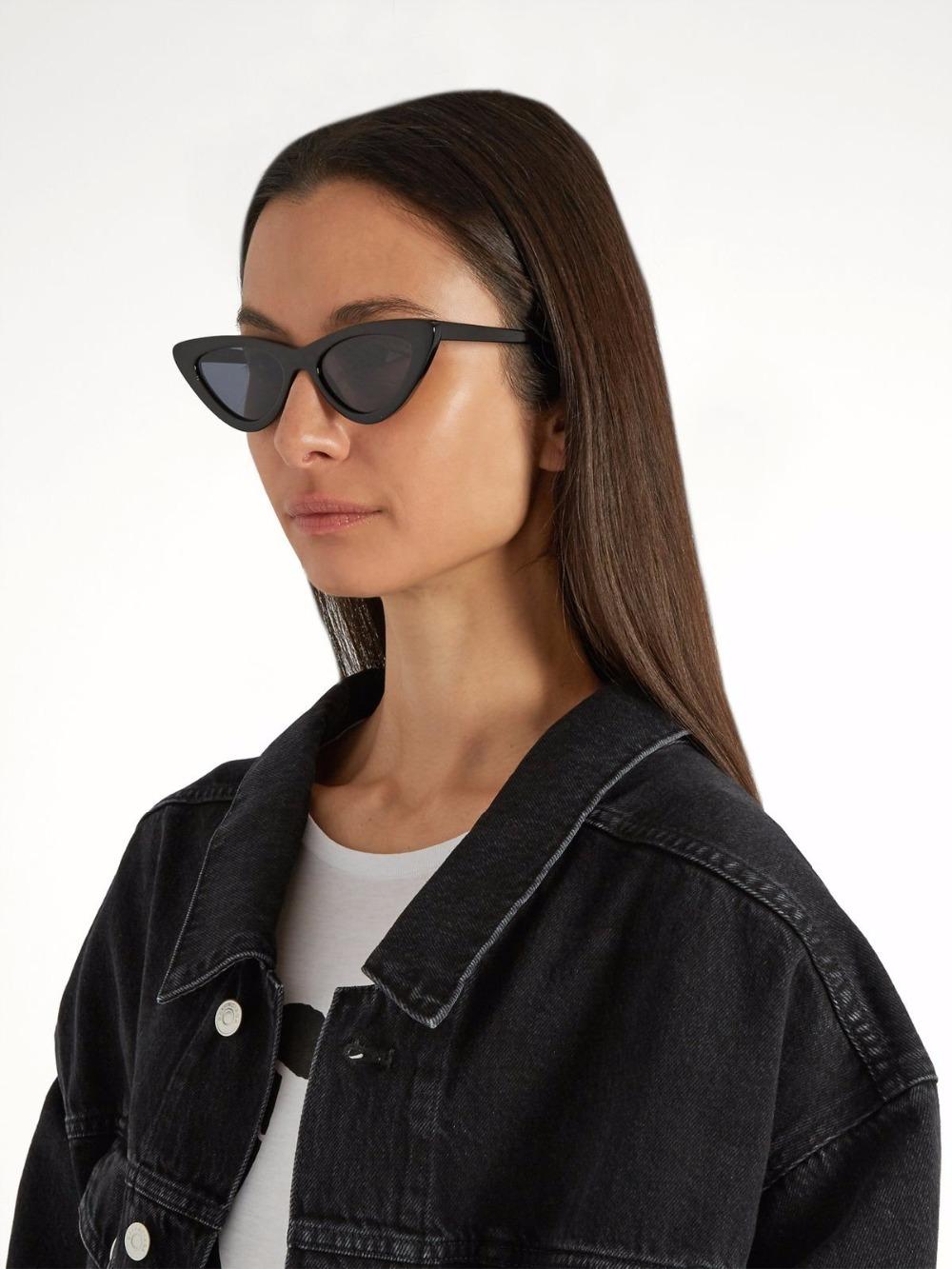 HTB1r9fPnrsTMeJjSszdq6AEupXaY - WHO CUTIE 2018 Brand Designer Black Cat Eye Sunglasses Women Cool Small Cateye Frame Sun Glasses Fashion UV400 Shades WG-008