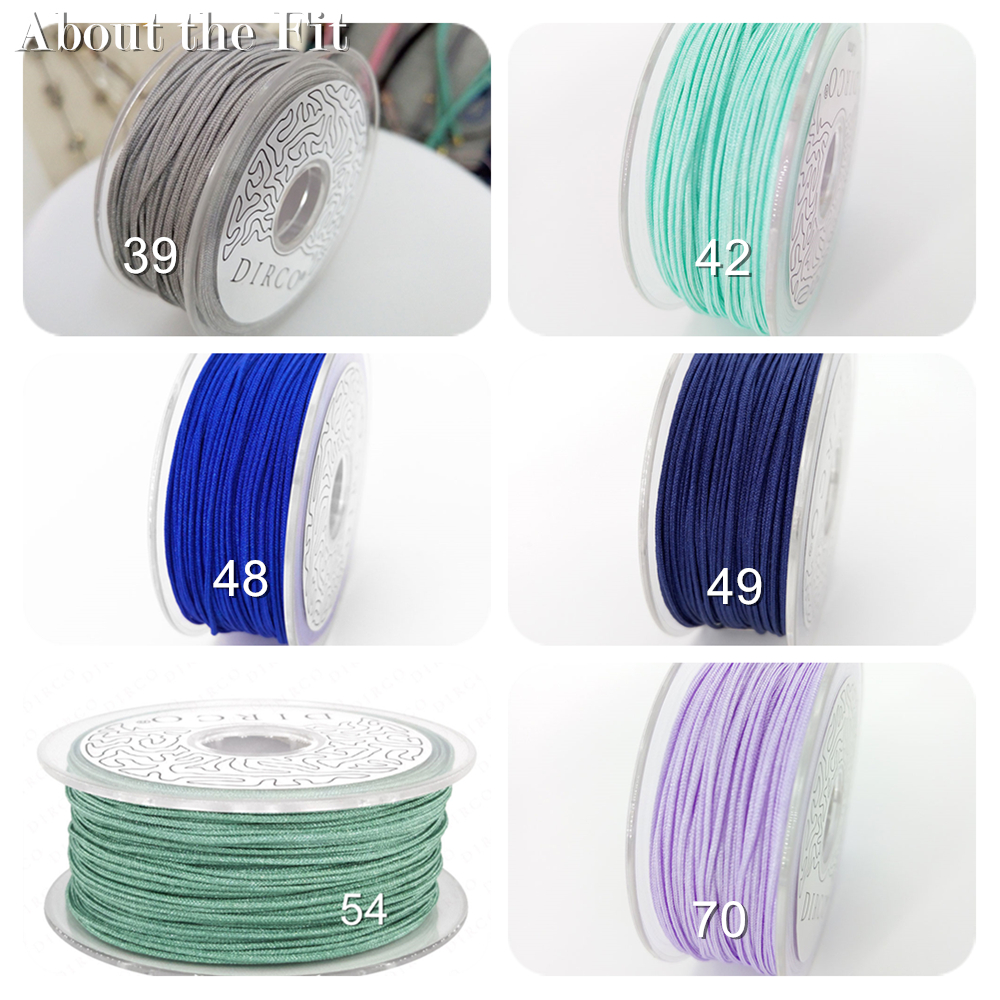 Nylon Cord 0.5mm 50M/Roll Fashion Bracelet Braided Accessories Silk Bead Lacing Plastic Threads For Jewelry Making Macrame Cords
