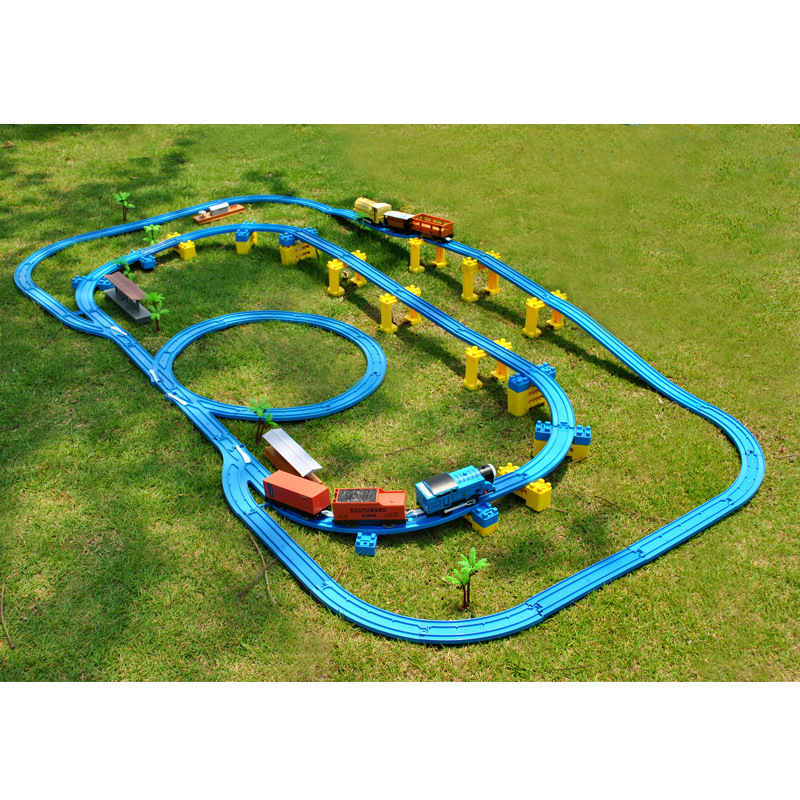 Thom rail train electric toys children's toys set 77 sets of double track train for Christmas gift kids toys for children electric toy train track high way kids train model toy train for kids gift christmas long track set with light children s toys