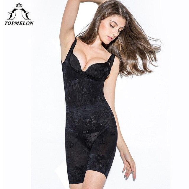b39e7ec3439a3 TOPMELON Women Sexy Body Shaper Plunge U Underwear Slimming Bodysuits Butt  Lifter Softt Waist Trainer Tummy Control Shapewear