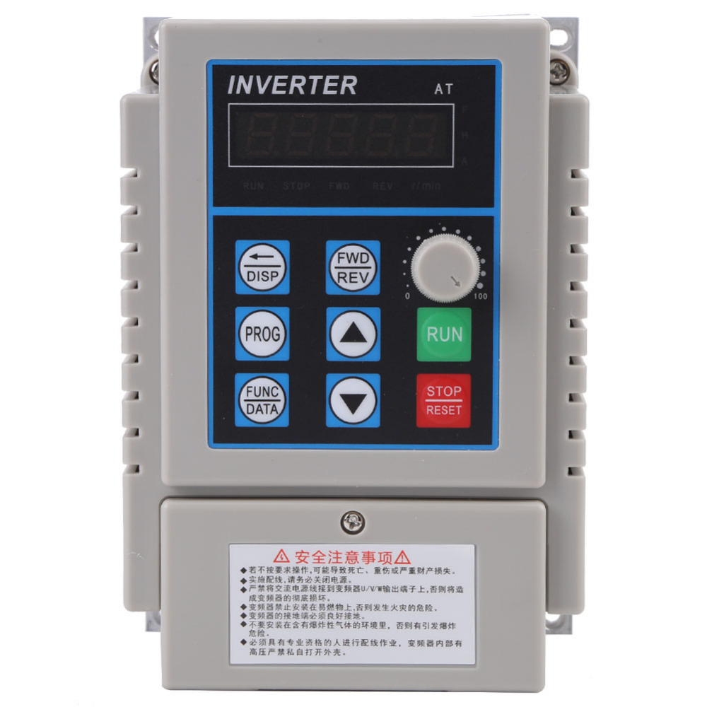 AC 220V 2.5A Variable Frequency Drive VFD Speed Controller 0.45KW Inverters Converters for Single-phase 0.45kW AC Motor