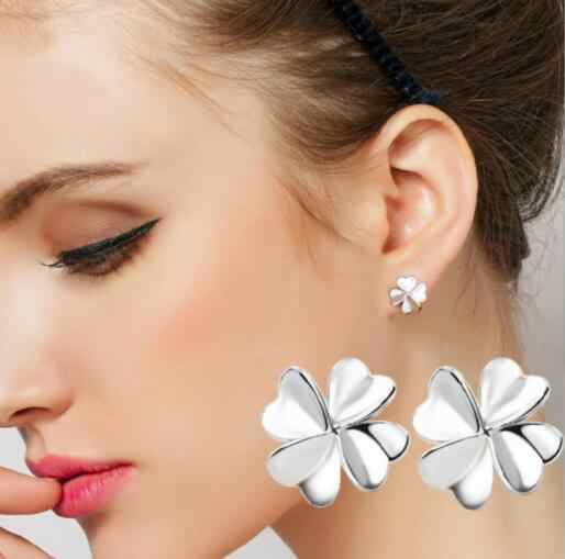new Fashion Jewelry Cute Cherry Blossoms Flower Stud Earrings for Women Several Peach Blossoms Earrings drop shipping