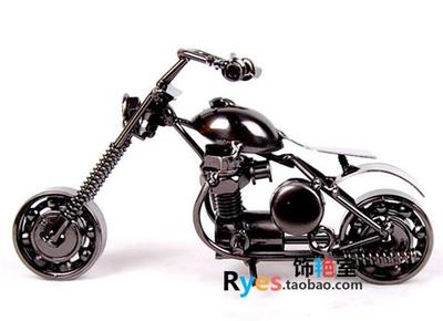 Wholesale/retail, free shipping, Retro metal Harley large iron motorcycle bicycle model creative living room crafts Decoration