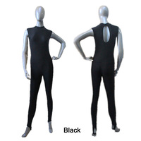 Retail Ready To Ship Black Turtle Neck Sleeveless Back Hole Dance Unitards For Girls Girls Dancing