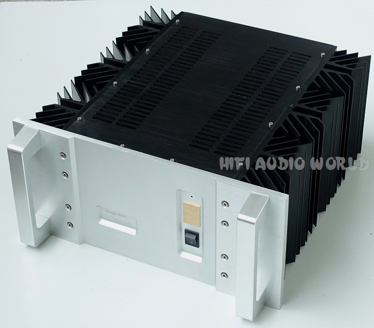 Big Aluminum Chassis 50W Class A Power Amplifier Enclosure DIY Case Deluxe Box 4308 rounded chassis full aluminum enclosure power amplifier box preamplifier chassis