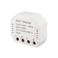Wifi inteligentny moduł ściemniacza 220V-240V 150W kontroler przełącznik czasowy światło sterowanie głosem działa dla Tuya Amazon Alexa Google Home If