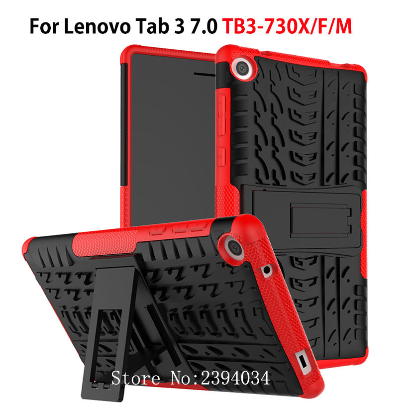 Case For Lenovo Tab3 Tab 3 7 TB3-730X TB3-730F TB3-730M Cover Heavy Duty 2 in 1 Hybrid Rugged Durable Funda Tablet Stand Shell srjtek 7 for lenovo tab3 3 7 730 tb3 730 tb3 730x tb3 730f tb3 730m touch screen digitizer sensor lcd screen display assembly