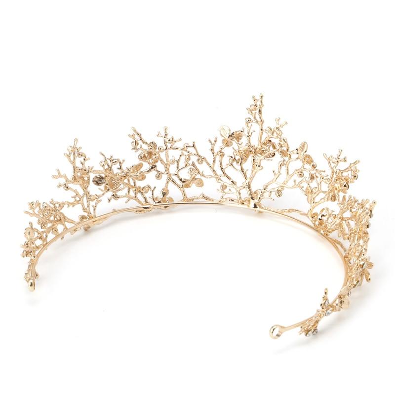 NEW 1PC Flower Bridal Crown Rhinestone Tiaras Women Wedding Diadem Hair Accessories Tiaras