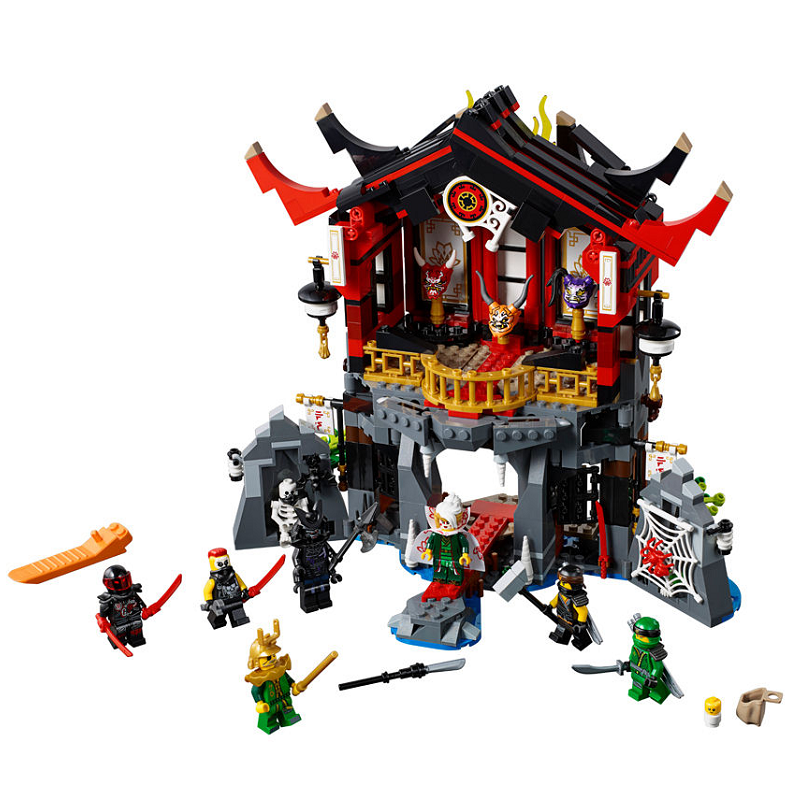 857PCS Ninja Temple of Resurrection Building Bricks Ninja Figure Toy for Children Compatible with Legoingly Ninjagoes 06078 Gift lepin 06038 compatible legoe ninjagoes minifigures ultra stealth raider 70595 building bricks ninja figure toys for children