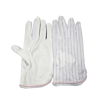 ESD BGA Repairing Soldering Working Antiskid Anti-static Anti-skid White Gloves New Polyester Glove esd bga repairing soldering working antiskid anti static white gloves for reballing tool