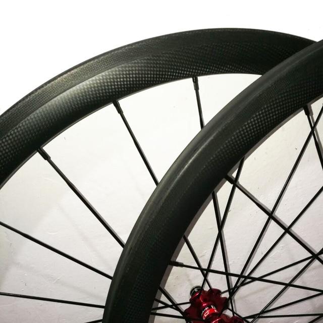 Paire de roues aérodynamique 23mm jante large 38 mm carbone ud chinois-vélos de route roues à pneu roue velo route entraînement triathlon