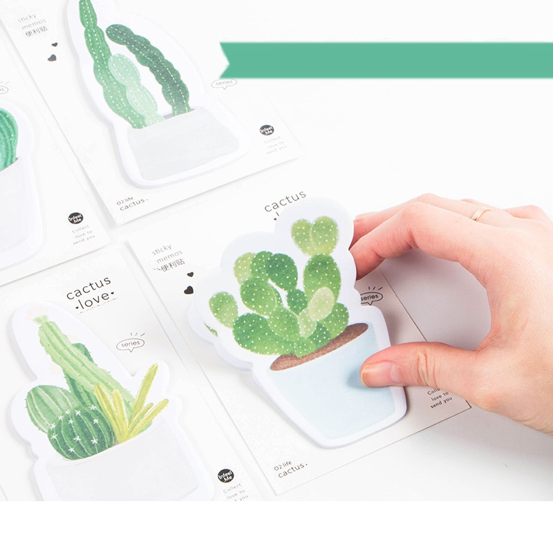 36 pcs/Lot Cactus sticky notes Green plant memo pads label Post sticker Stationery Office School supplies material escolar A6181