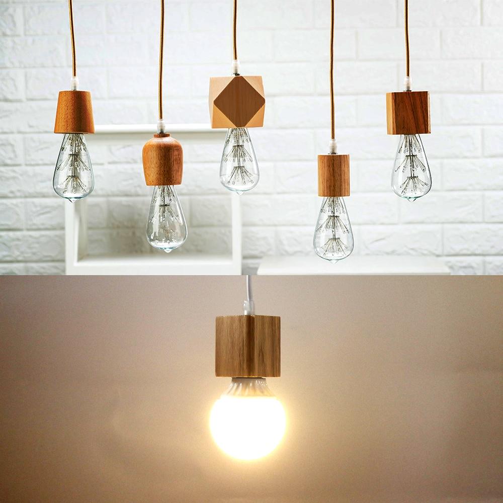 Vintage pendant light Wood lampholder modern lamp corlorful vintage indoor ceiling Hanging decorated light fixture no bulb in Lamp Bases from Lights Lighting