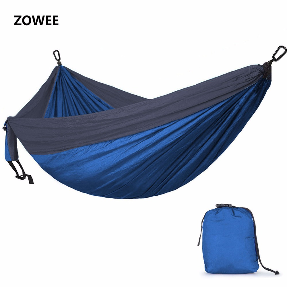 Ultralight Parachute Hammock 210T Nylon Durable Portable Outdoor Hanging Hamac For Backyard Double Person Hamak Free shipping 2 people portable parachute hammock outdoor survival camping hammocks garden leisure travel double hanging swing 2 6m 1 4m 3m 2m