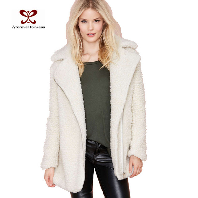 For Sale Discount Sale Womens Faux Sheepskin Collar Jacket Glamorous Get To Buy Cheap Price The Cheapest Cheap Price Very Cheap Classic utmOy