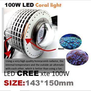 Image 4 - 100w cree led aquário luz marinha recife coral lâmpada do tanque de peixes para água salgada peixes marinhos de água doce pet iluminação cultivada