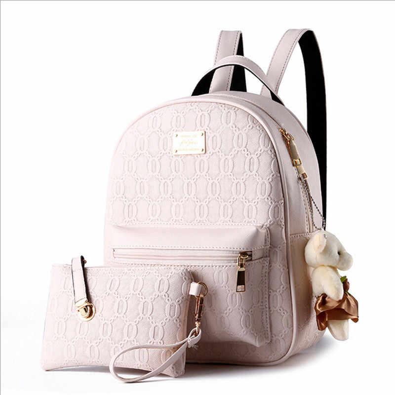 Крутой ходок, новый модный дизайнерский брендовый рюкзак для женщин, кожаная школьная сумка, женские повседневные стильные рюкзаки + маленькие сумки