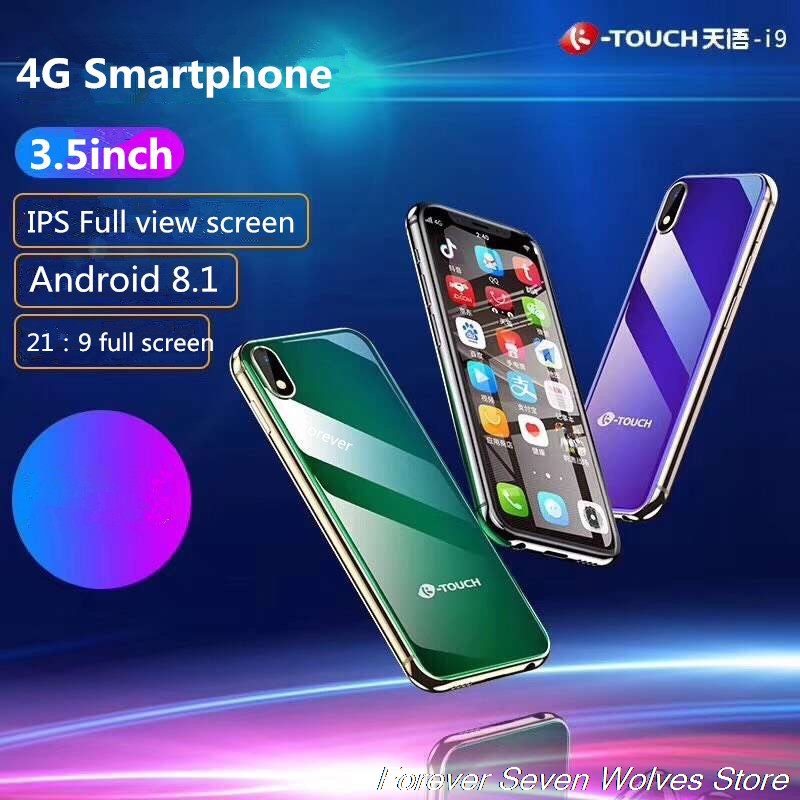 Freies Fall Screen Protector 3 GB Ram 32 GB Rom Android 8.1 Mini 4G SmartPhone K-TOUCH I9 Gesicht ID Metall zelle Dual SIM Handy