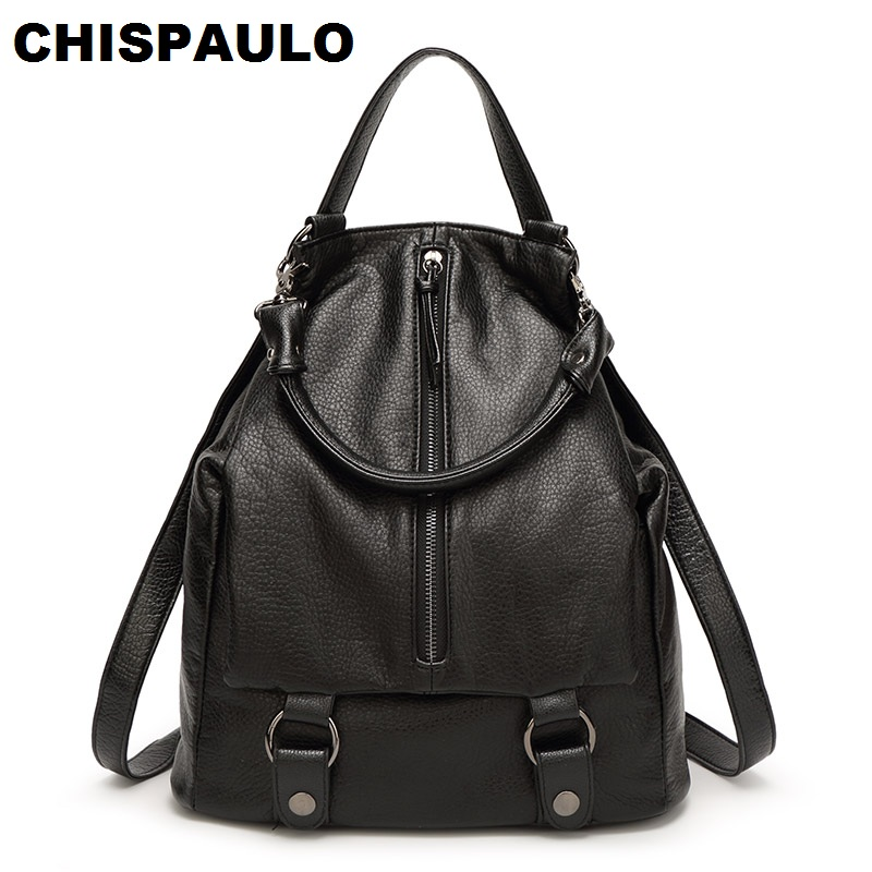 Cowhide Women Genuine Leather Backpack Fashion Women's Laptop Travel Shoulder Bag  School Backpacks For Teenage Girls N053