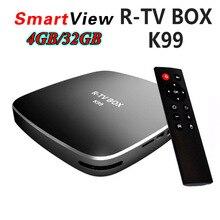 4 GB 32 GB Rockchip RK3399 Android 6.0 TV BOX 802.11AC 2,4G 5G Dual WIFI BT4.0 1000 Mt LAN Typ-c Media Player R-TV BOX K99