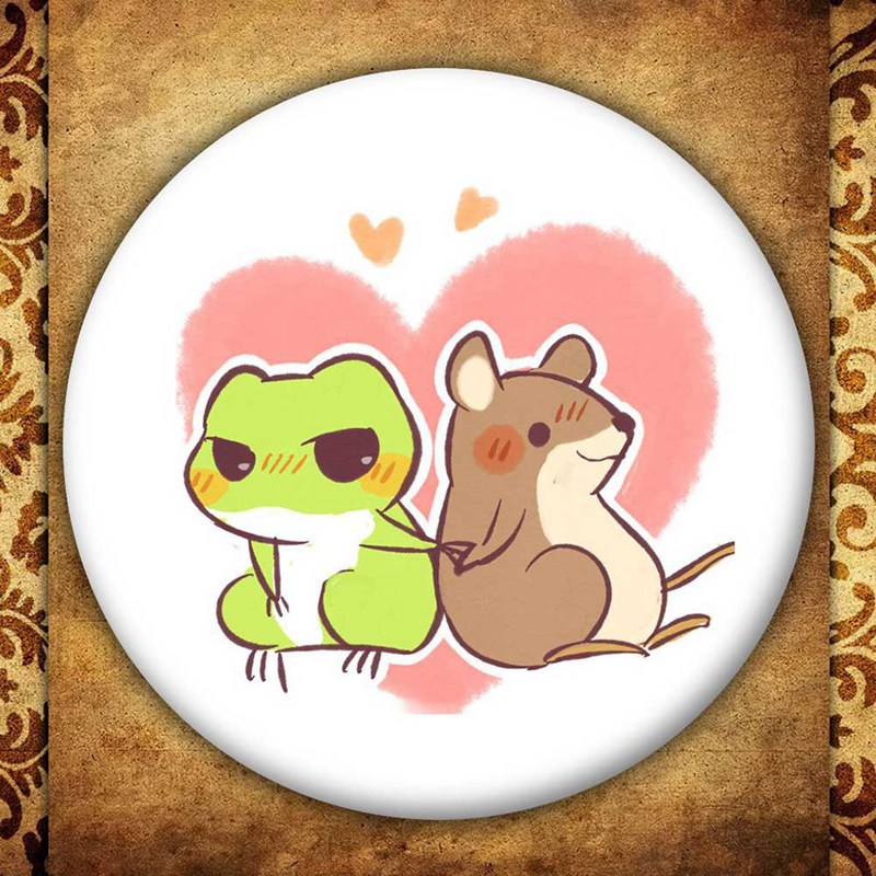 2018 58mm custom made Round brooch pins Anime Badge Gift Travel Frog Hot Game Kawaii Frog Custom made your own Photos BRH1119