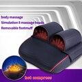 Jinkairui aquecimento infravermelho reflexologia shiatsu amassar travesseiro de massagem elétrica pé pescoço circulação do corpo spa cuidados de saúde massj