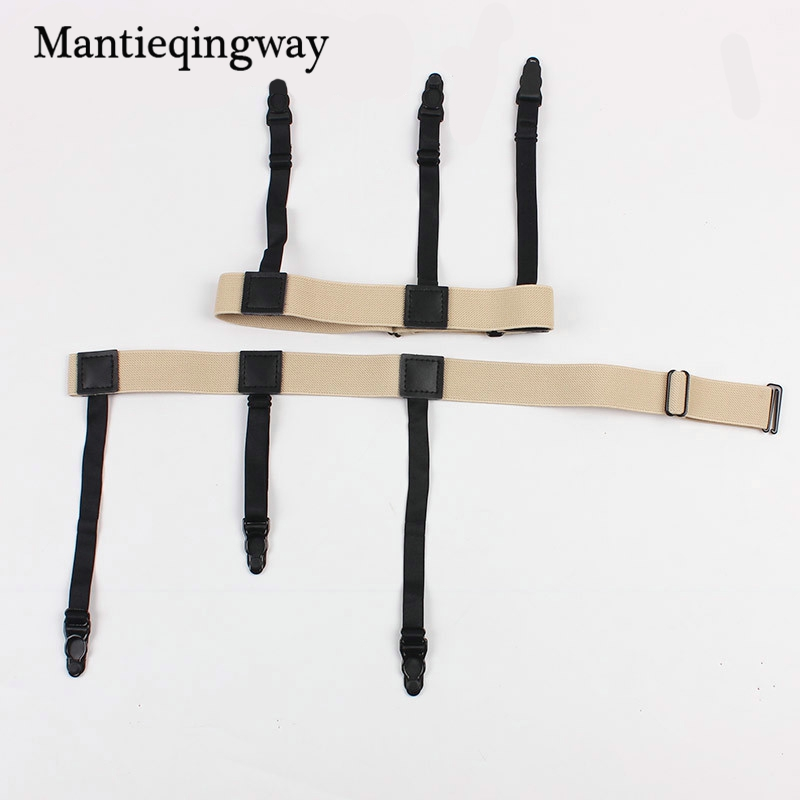 Fashion Unisex Shirt Suspenders Holder Gentleman Stays Leg Braces For Shirts Belt Stirrup Style Accessories Garter