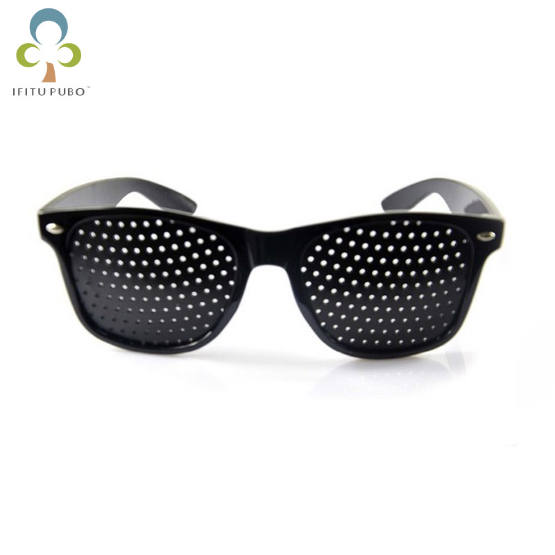 Eyeglasses-Pin-Hole-Glasses Vision-Care Plastic Natural Eye-Exercise Black Eyesight Healing-Gyh