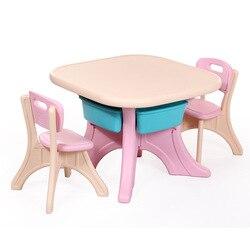 Детская Корейская версия стола и стула набор квадратный стол и стул комбинация ребенок обучения живопись стол утолщение