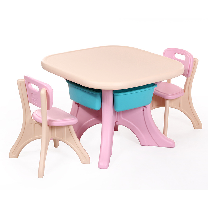 Children's Korean Version Of The Table And Chair Set Square Table And Chair Combination Baby Learning Painting Desk Thickening