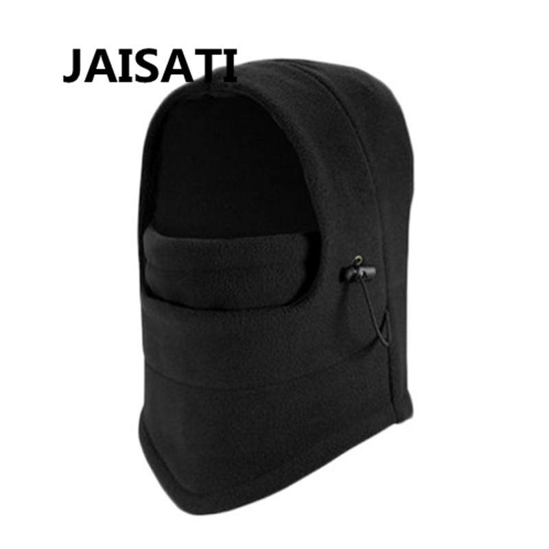 JAISATI Windproof and cold protective hood bib warm riding masked face dust mask 6 kinds of functions windproof hoods masked cap black