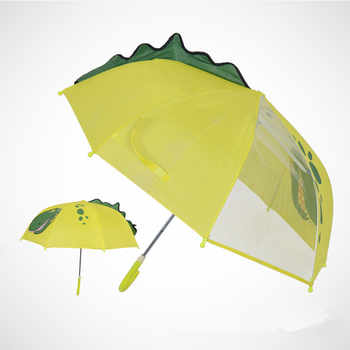Long handle rain umbrella for kids 3D animals print cute children umbrella for boy girl sun protection child\'s tools