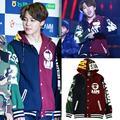 kpop BTS JIMIN baseball uniform cotton hoodie unisex coat with hat hood by air hip hop