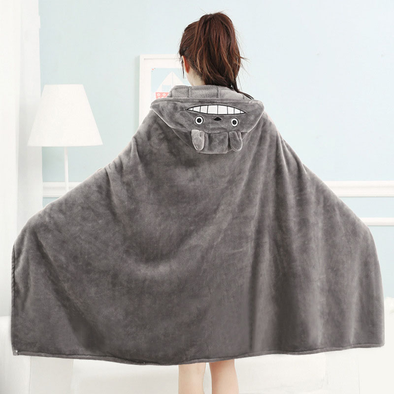 Totoro Cozy Hooded Blanket