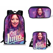 цена на School Bags Soy Luna Pattern Print School Backpack for Girls Boys Orthopedic Schoolbag Backpacks Children Book Bag
